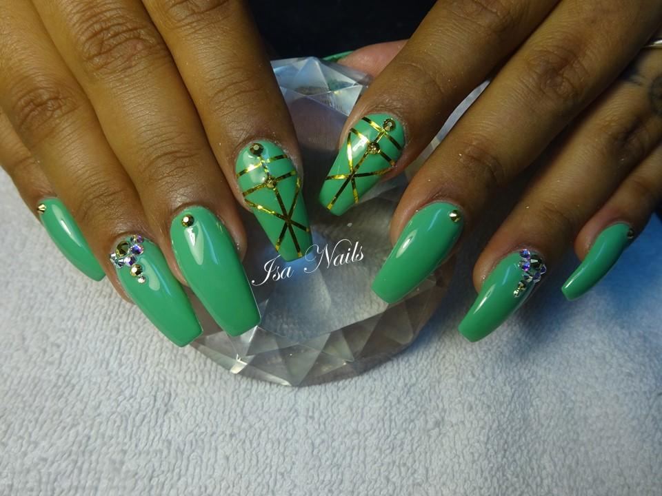 uñas con gelish | Isa Nails